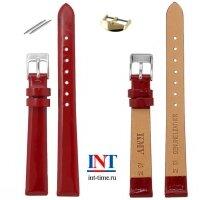 Ремешок для часов 12 мм L S-13 красный лак  KMV