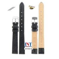 Ремешок для часов 12 мм L S-10 черный шагрень KMV