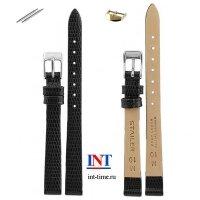 Ремешок для часов 10 мм L черный, глянец, тиснение, 1101-1001 Stailer