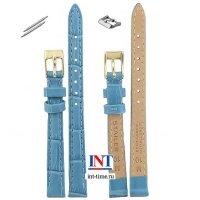 Ремешок для часов 10 мм , М,  голубой, тиснение, 1587-1002 Stailer